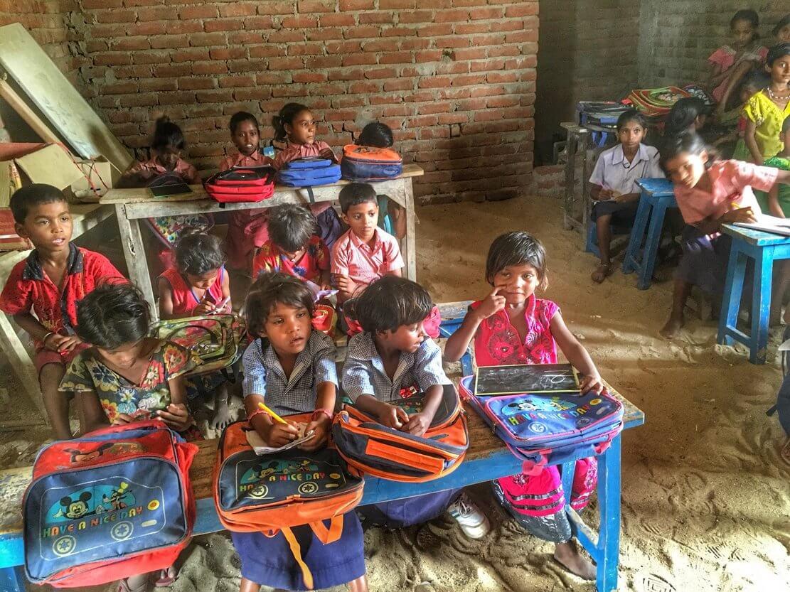 哈尔菩提伽耶村子的学校
