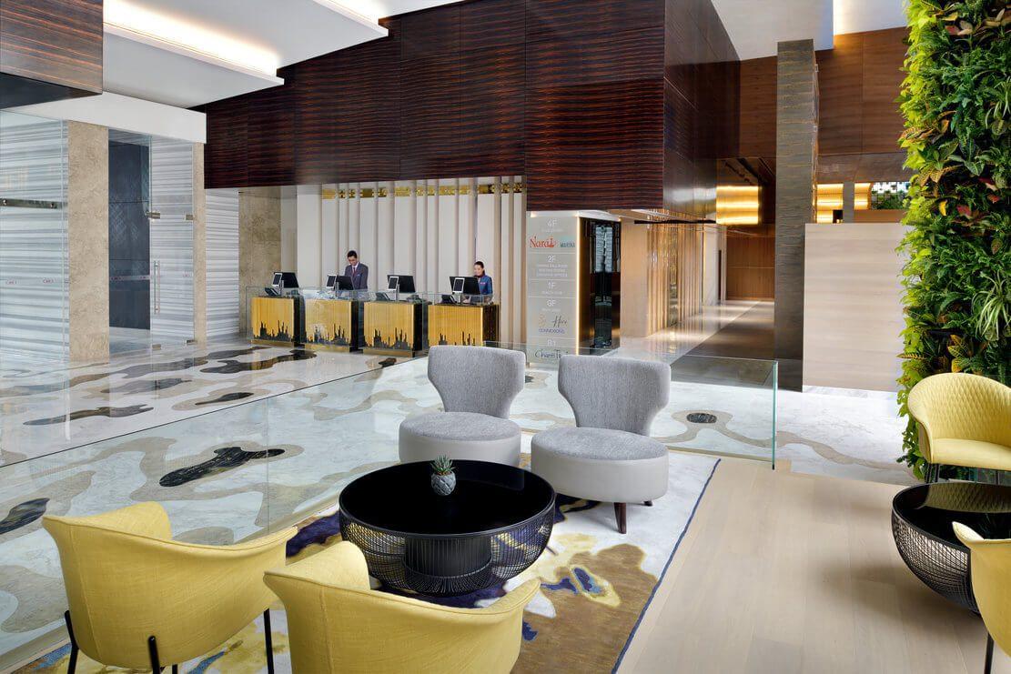 迪拜码头皇冠酒店大堂